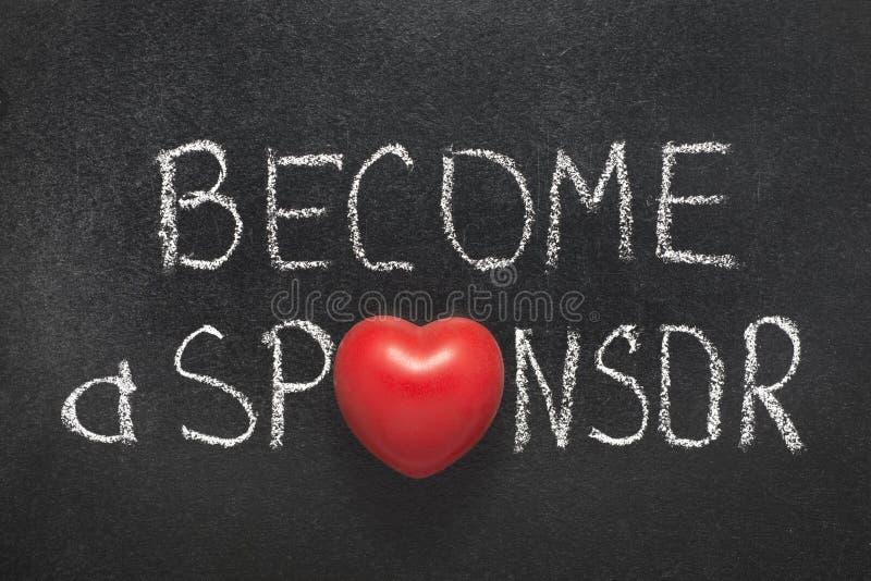 Blir en sponsor royaltyfria foton