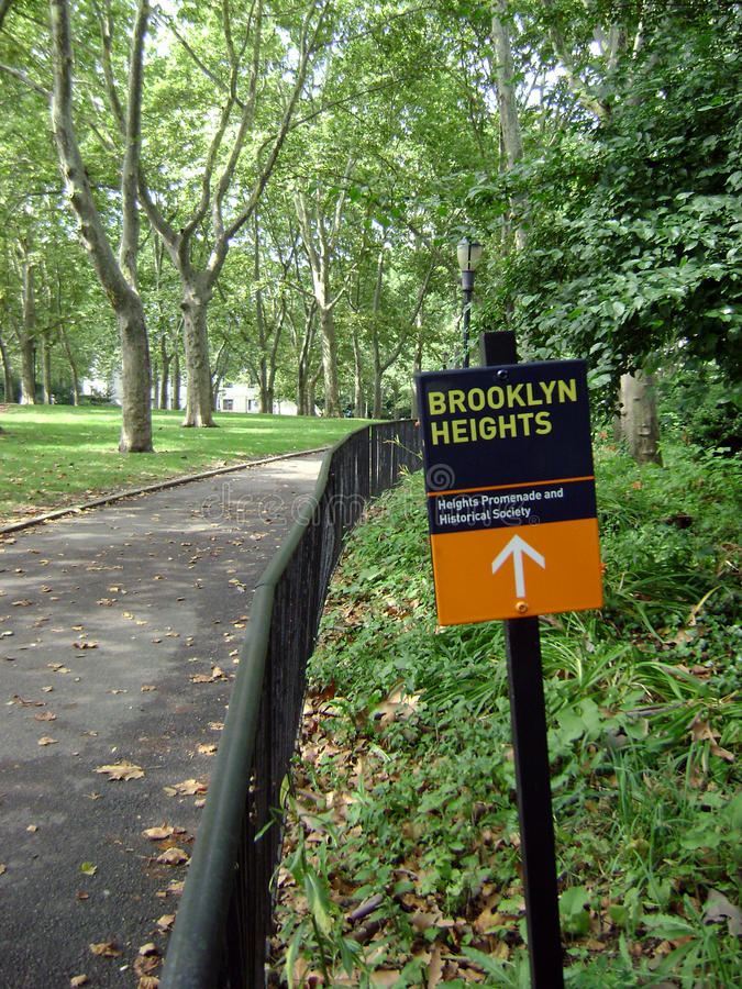 blisko Brooklyn wzrost parkuje obraz stock