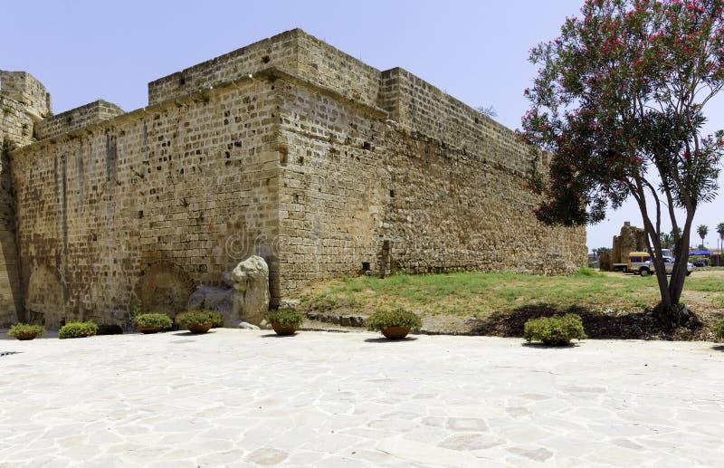 Blisko Famagusta fortecy Venetians lew, Cypr fotografia royalty free