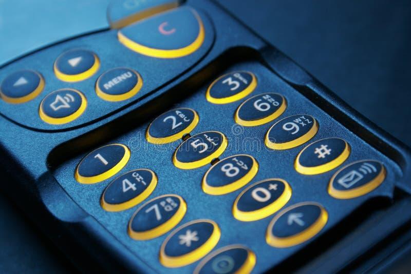 blisko kluczowym obrońcę telefon, fotografia stock