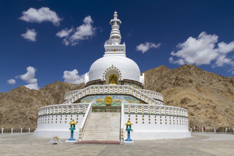 Blisko Leh Shanti Stupa, Ladakh, India obraz royalty free