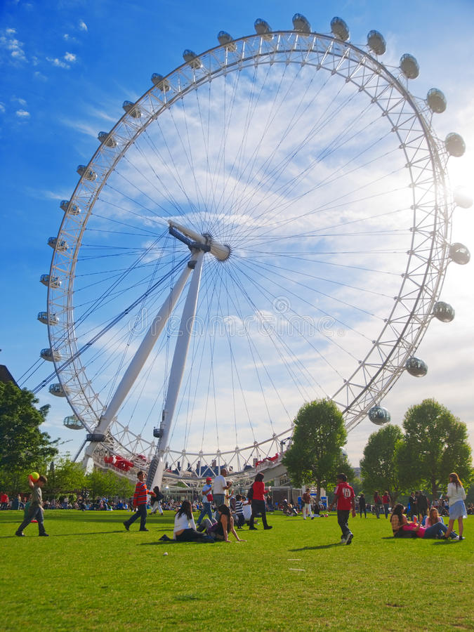 Blisko Londyńskiego oka zdjęcia royalty free