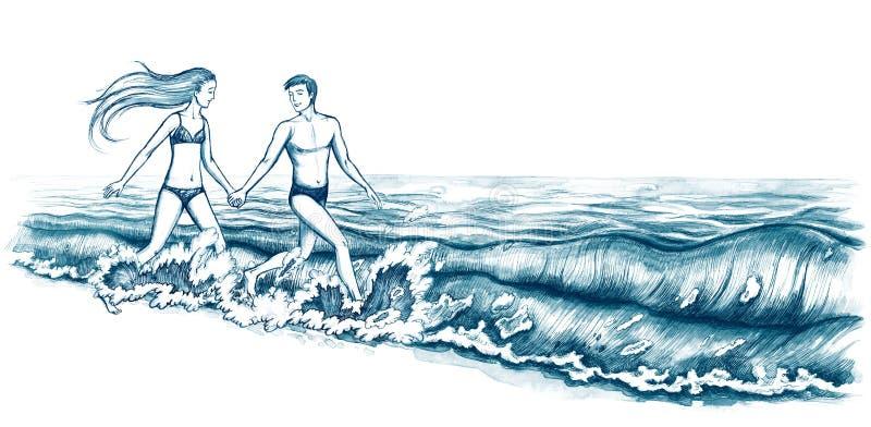 Blisko morza ilustracji