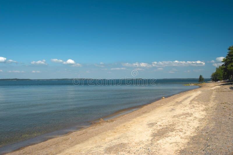 blisko morza campingowy brzegowy hanko zdjęcie stock