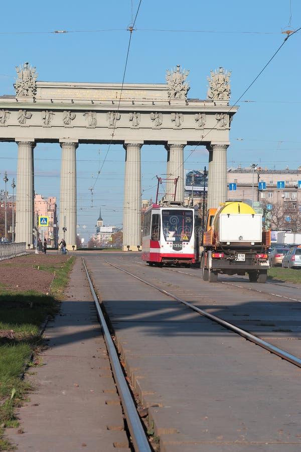 Blisko Moskwa Triumfalnej bramy zdjęcia royalty free