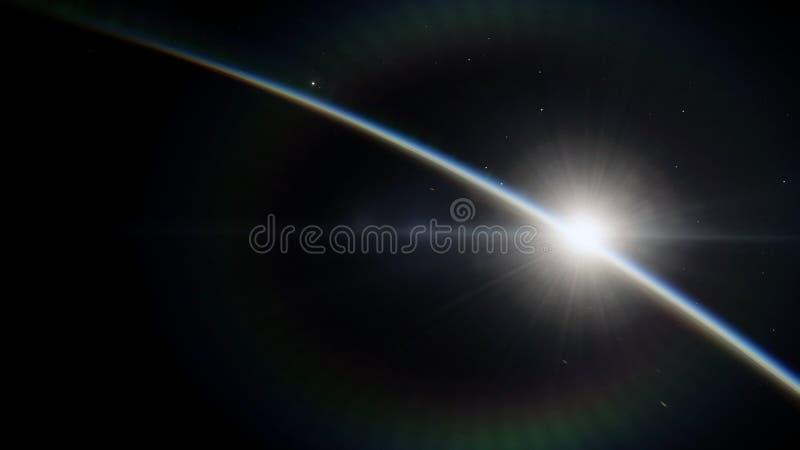 Blisko, niska ziemskiej orbity błękitna planeta Ten wizerunku elementy meblujący NASA ilustracji