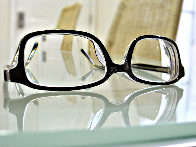blisko oczu okulary się zdjęcia royalty free