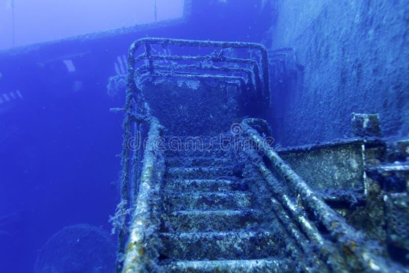 Blisko Paphos Zenobia shipwreck obraz royalty free