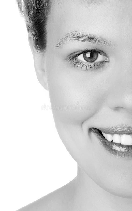 blisko połowa twarzy dziewczyny wybiera zdjęcie royalty free