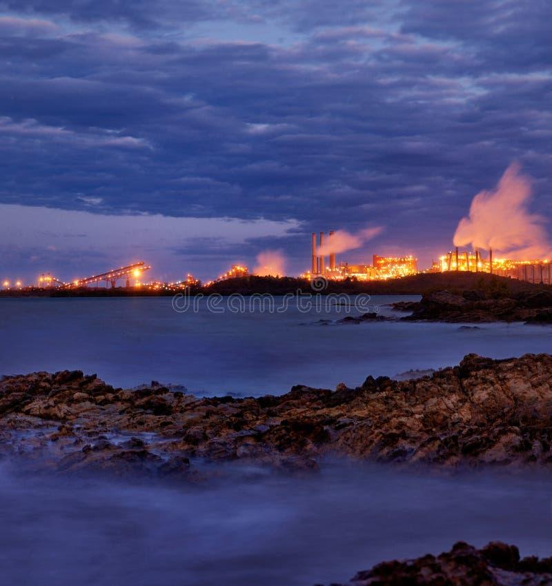 blisko Queensland Gladstone przemysł ciężki obraz stock