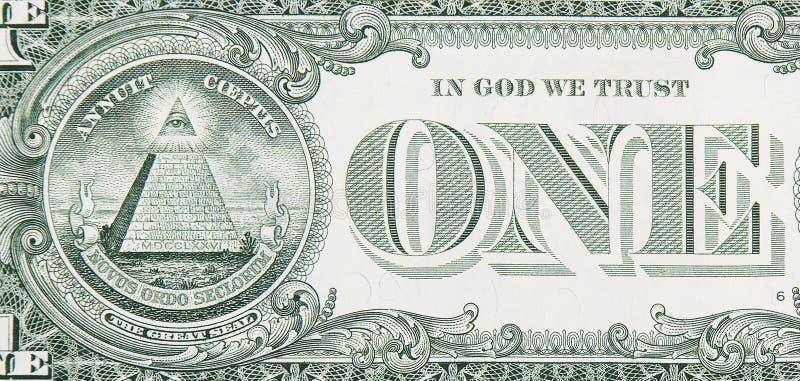 blisko rachunku z jednego dolara obraz stock