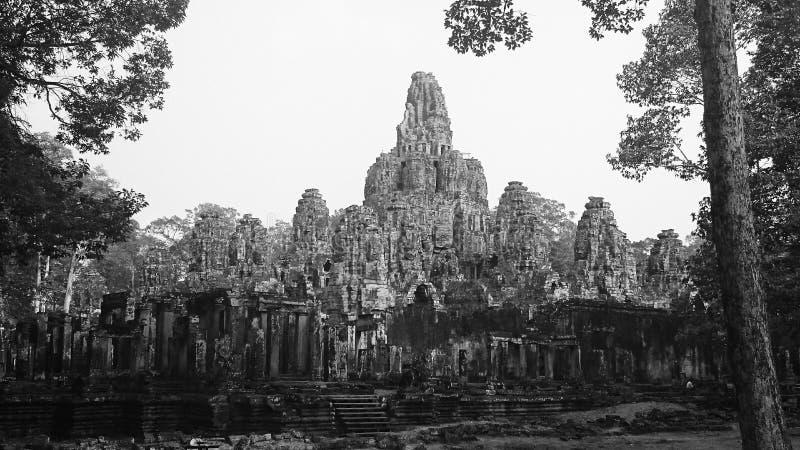 blisko riep bayon Cambodia siem świątyni obraz stock