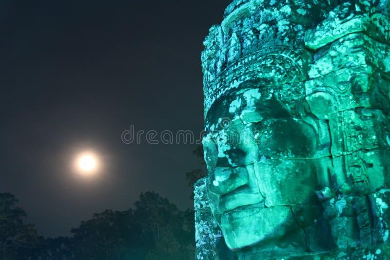 blisko riep bayon Cambodia siem świątyni Kambodża Siem Przeprowadza żniwa prowincję Siem Przeprowadza żniwa miasto Angkor Thom Kh obraz stock