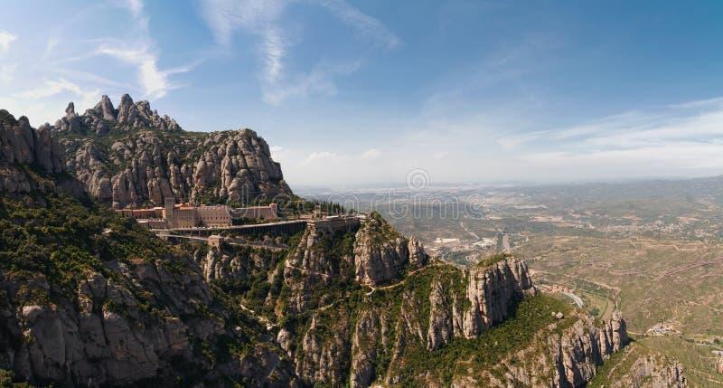 blisko Spain Barcelona monaster Montserrat obrazy royalty free