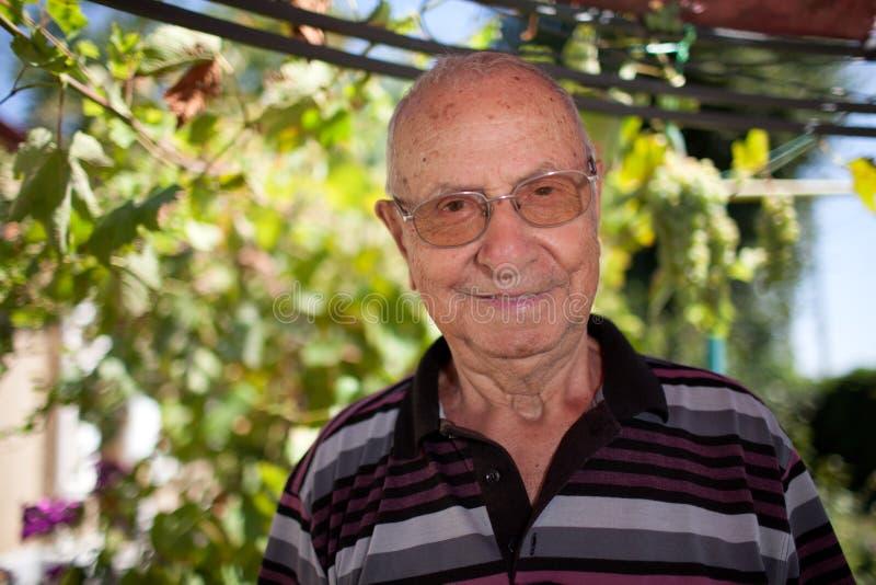 blisko stary portret senior, obraz stock