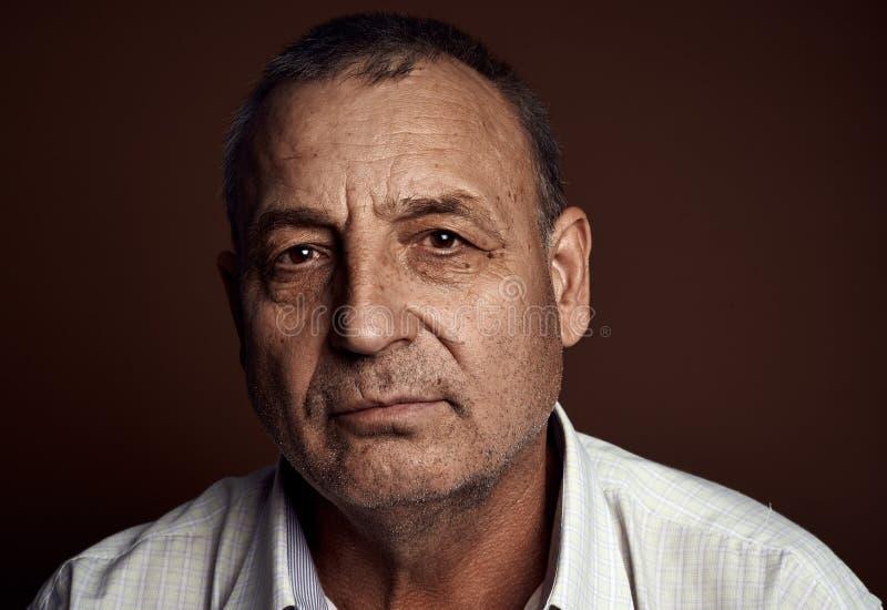 blisko stary portret senior, zdjęcie royalty free