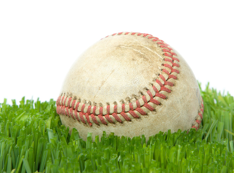 blisko trawy softball. obrazy royalty free