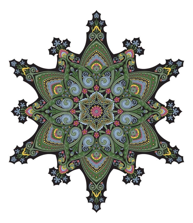 Bliskowschodni kwiecisty deseniowy motyw ilustracji