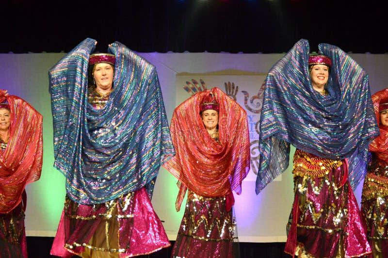 Bliskowschodni tancerze zdjęcie stock