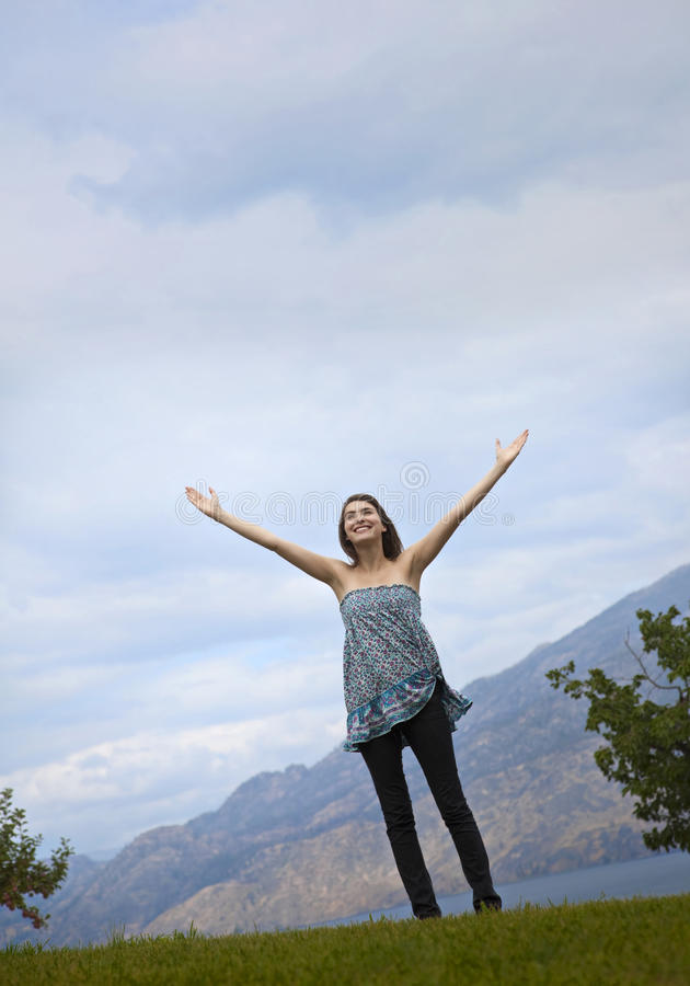 Download Bliss stock image. Image of standing, heavens, cheerful - 12962077