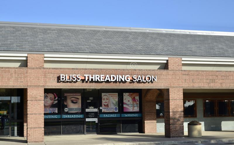 Bliss Threading Salon, Fort Worth, Texas foto de stock royalty free