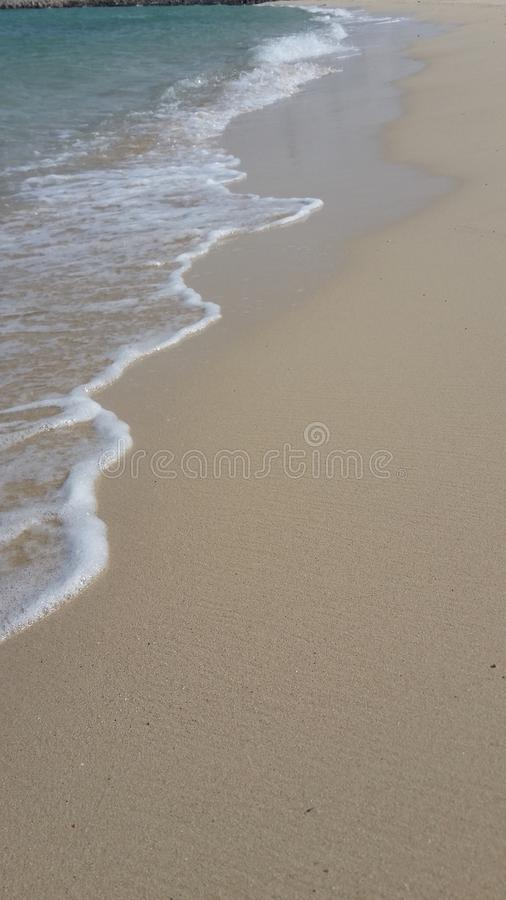 Blissful Sandy Beach stock images