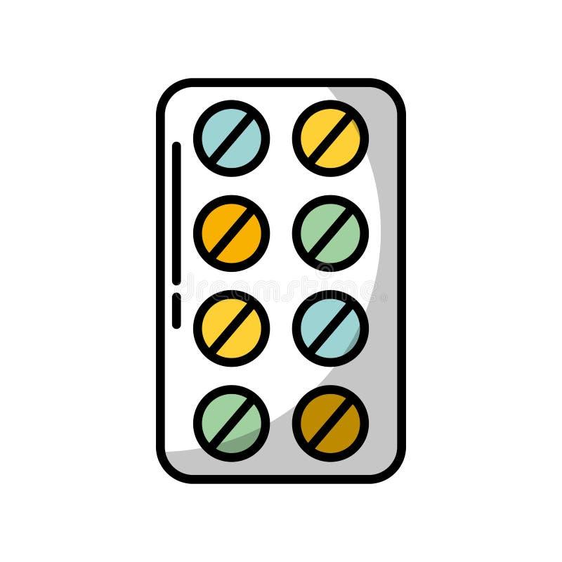 Blister pack pills stock illustration