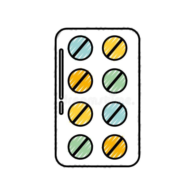 Blisterpackungspillen vektor abbildung