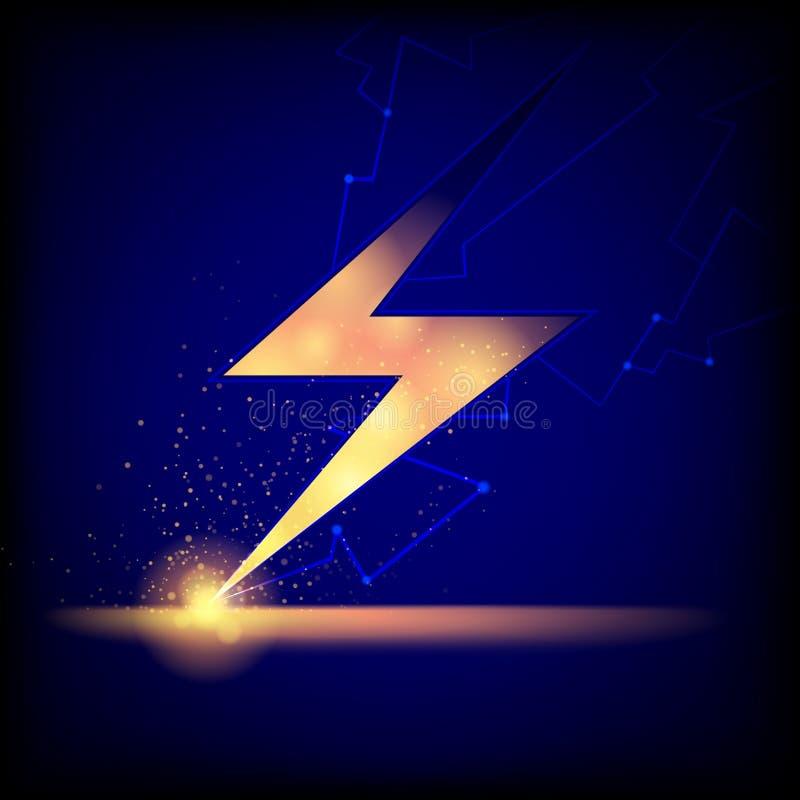 Blitz-Bolzen-Hintergrund lizenzfreie abbildung
