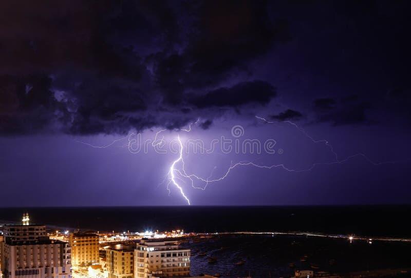 Blitz gesehen in Gaza-Stadt stockfoto