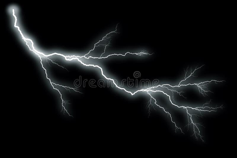 Blitz mit schwarzem Hintergrund lizenzfreie abbildung
