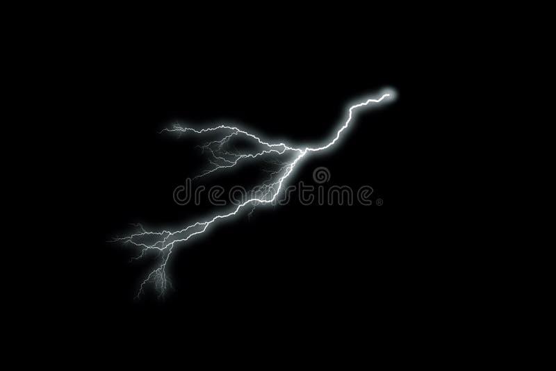 Blitz mit schwarzem Hintergrund stock abbildung
