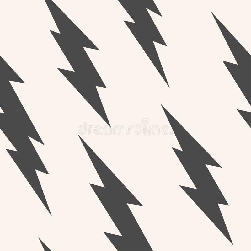 Blitz, nahtloses Muster des Blitzbolzens stockbilder