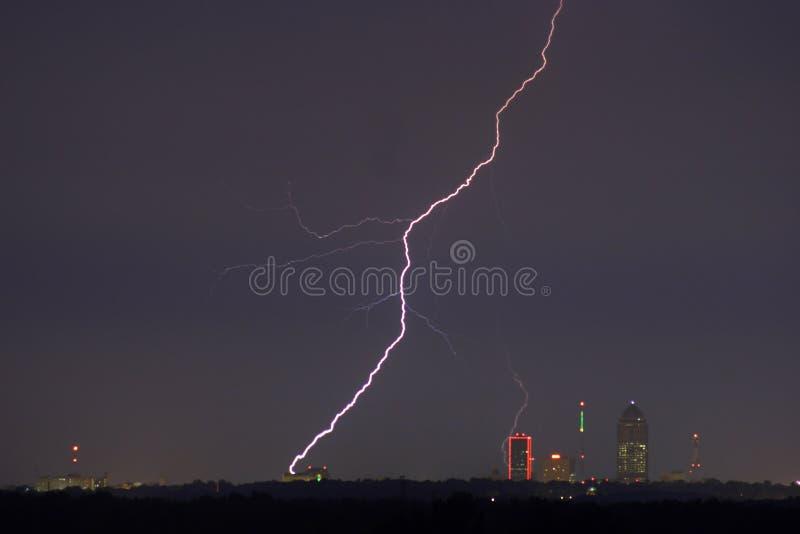 Blitz-Stadtbild stockbild