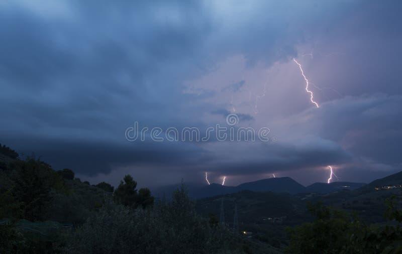 Blitz-Sturm in Kolorado USA stockfotografie
