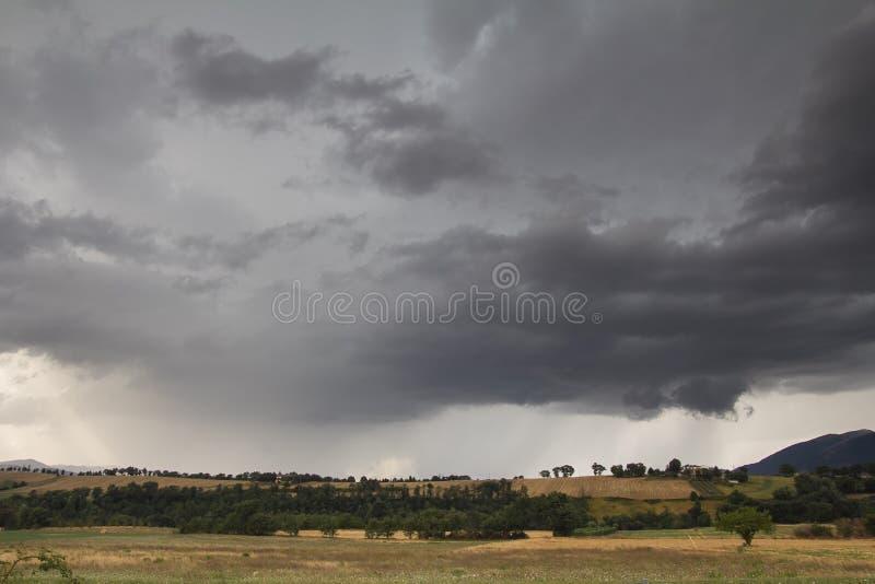 Blitz-Sturm in Kolorado USA stockfoto