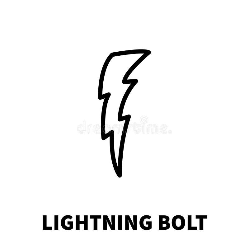 Blitzbolzenikone oder -logo in der modernen Linie Art vektor abbildung