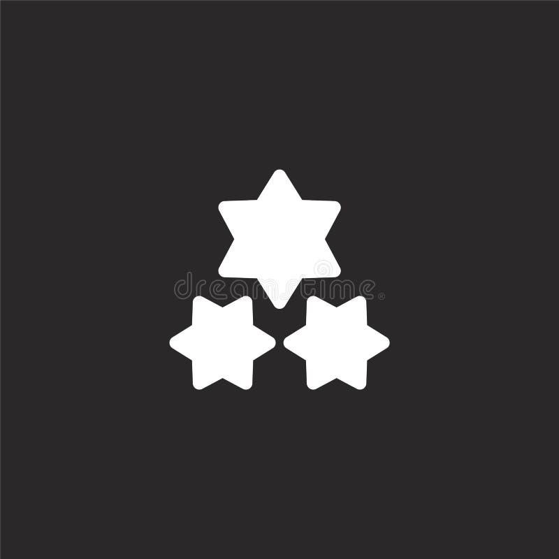 Blitzikone Gefüllte Blitzikone für Websiteentwurf und Mobile, Appentwicklung Blitzikone von gefüllter Modekollektion lizenzfreie abbildung