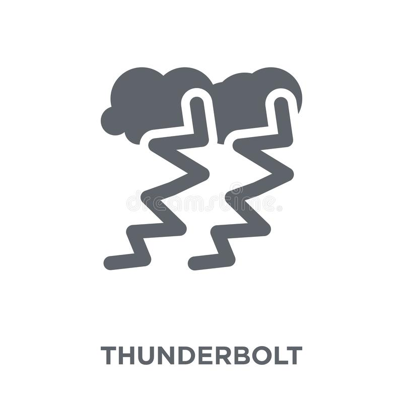 Blitzikone von der Wettersammlung stock abbildung