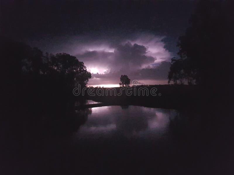 Blitzreflexion stockfotografie