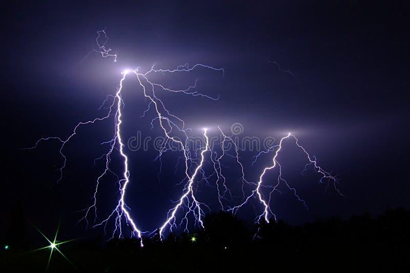 Blitzschläge stockfotos