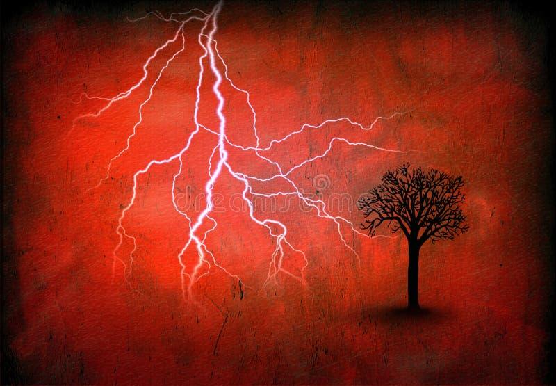 blixtredtree stock illustrationer