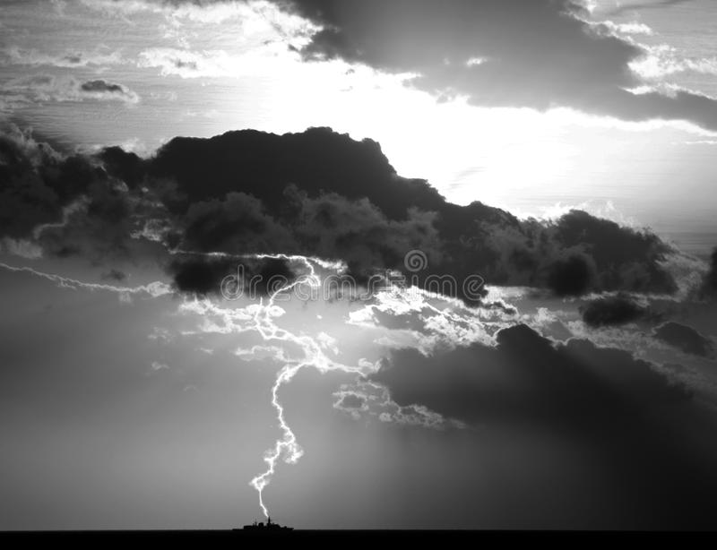 blixtslag arkivbild