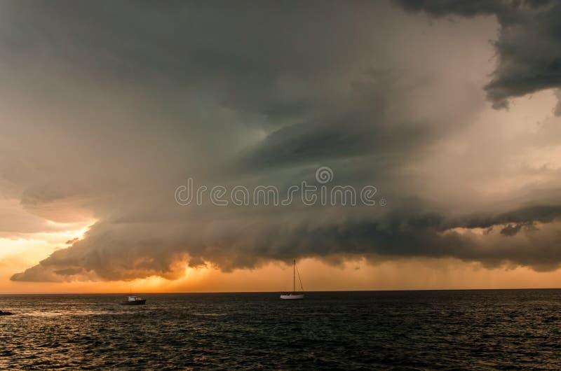 Blixtstorm i Colorado USA royaltyfria bilder
