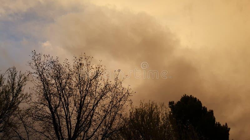 Blixtstorm i Colorado USA royaltyfri foto