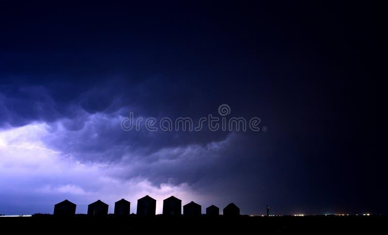 Blixtstorm Kanada arkivbild