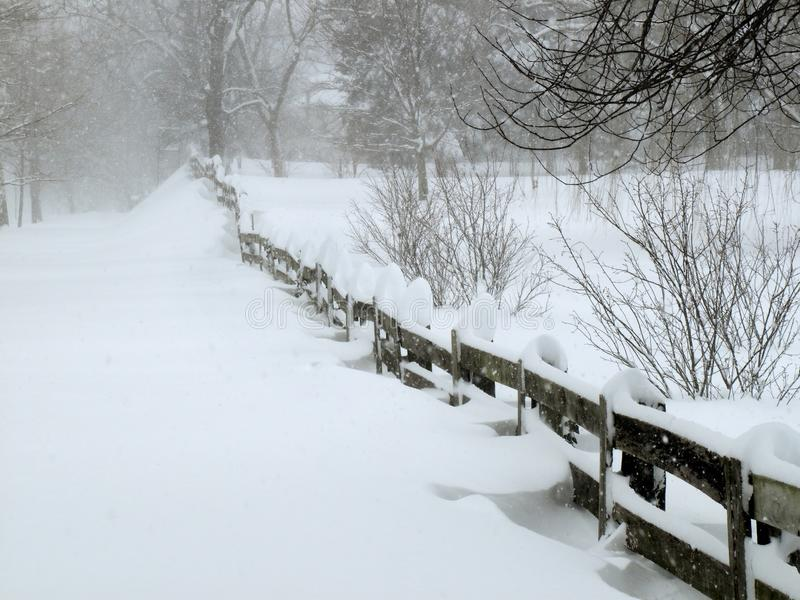 Blizzard In February Stock Images