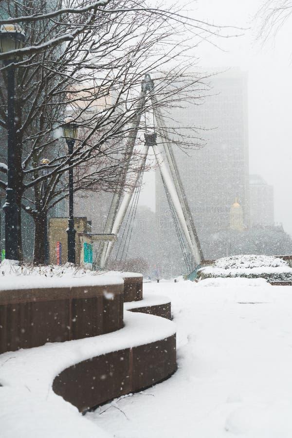 Blizzard noch ` Ostern am 13. März 2018 in Hartford Connecticut Neu-England lizenzfreies stockfoto