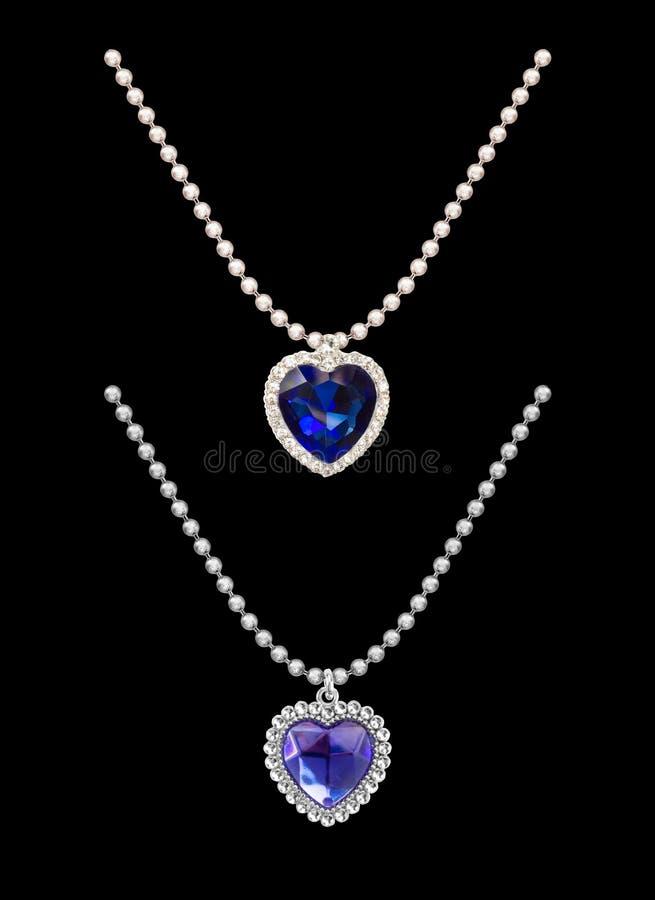 Bllue titânico Diamond Necklace ilustração do vetor