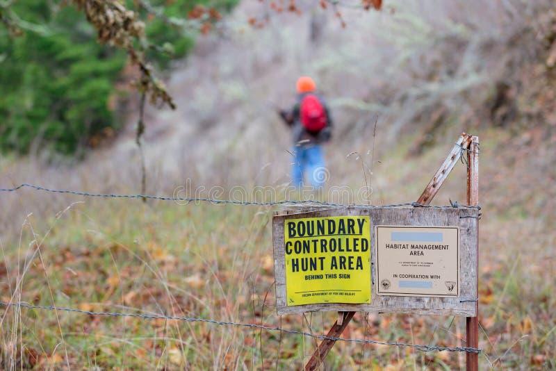 BLM-het Gebied van het de Habitatbeheer van de het Noordenbank controleerde Jacht stock foto